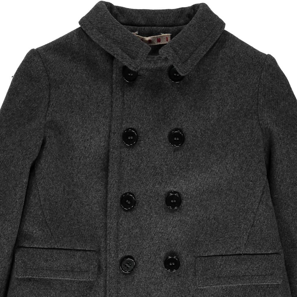 manteau drap de laine gris marni mode adolescent enfant. Black Bedroom Furniture Sets. Home Design Ideas