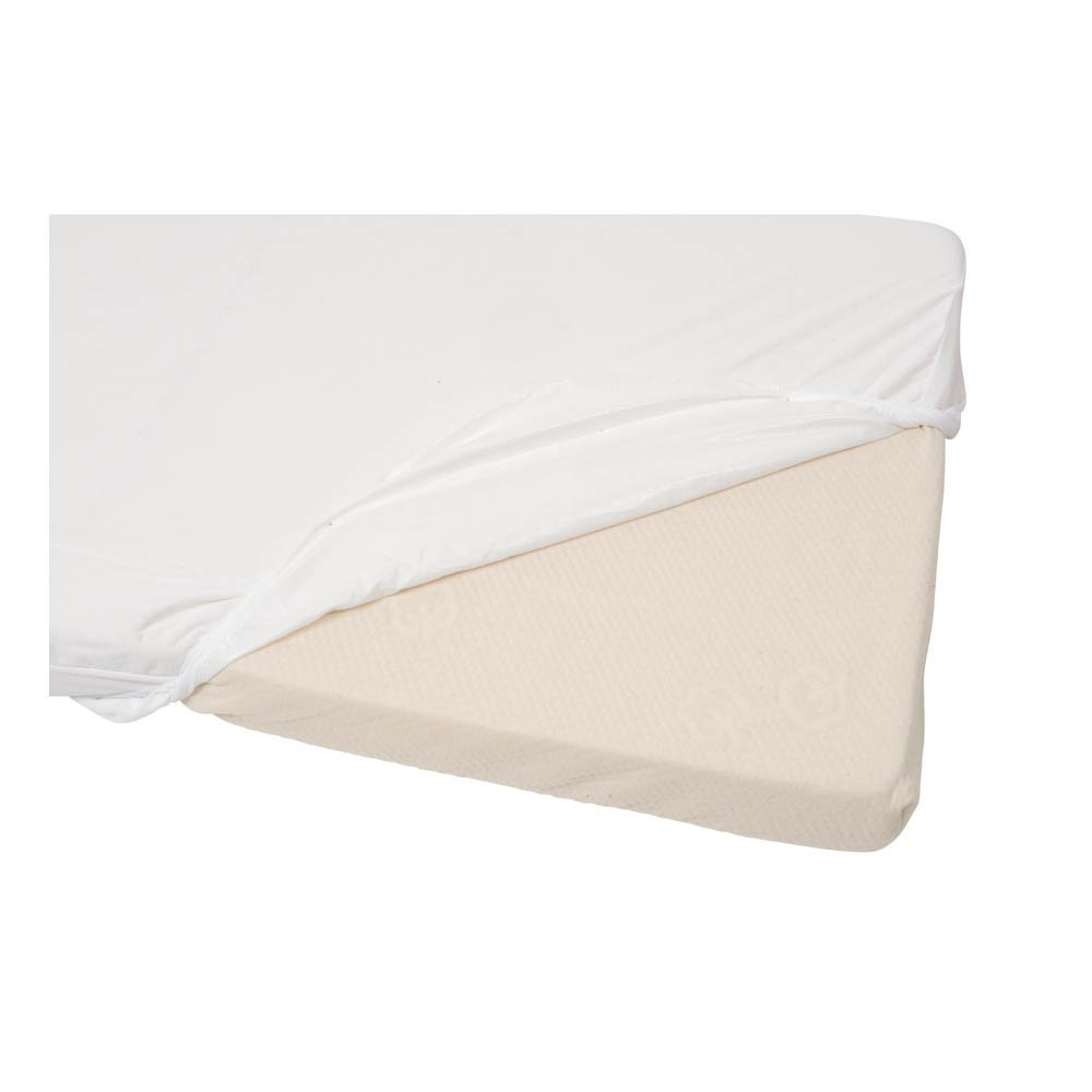 Waterproof fitted sheet white candide design baby children for Waterproof bed sheets south africa