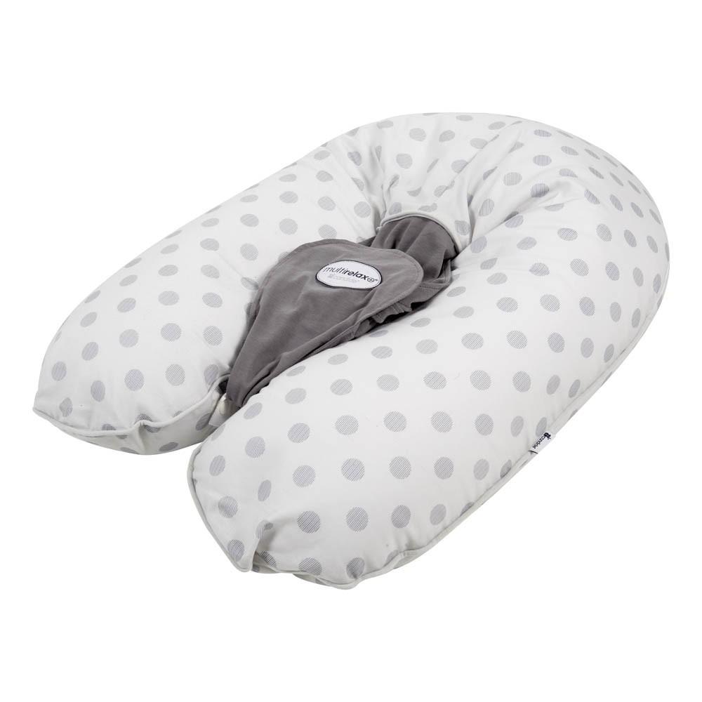 coussin d 39 allaitement multirelax jersey coton imprim pois gris. Black Bedroom Furniture Sets. Home Design Ideas