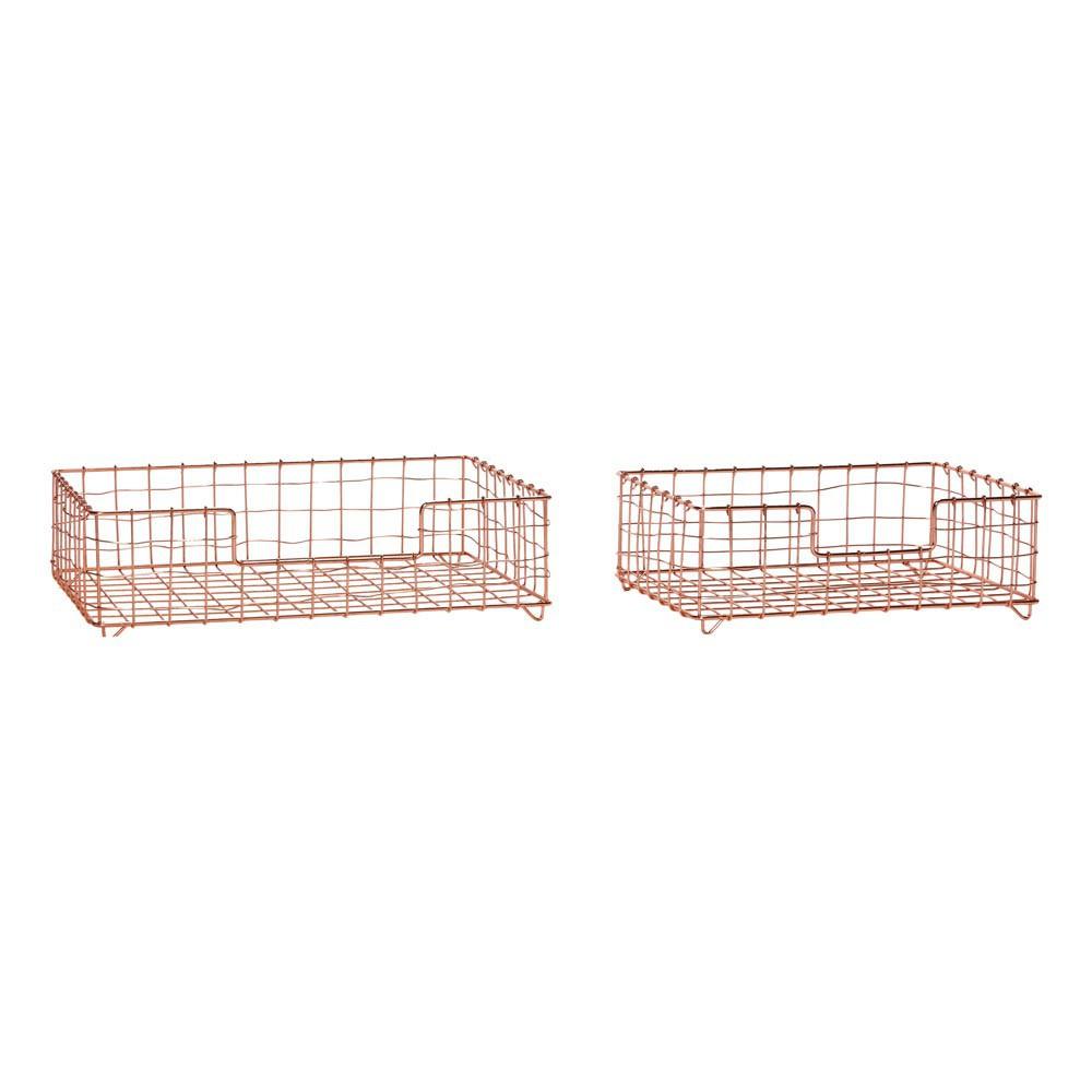 paniers de rangement set de 2 cuivre h bsch design enfant. Black Bedroom Furniture Sets. Home Design Ideas