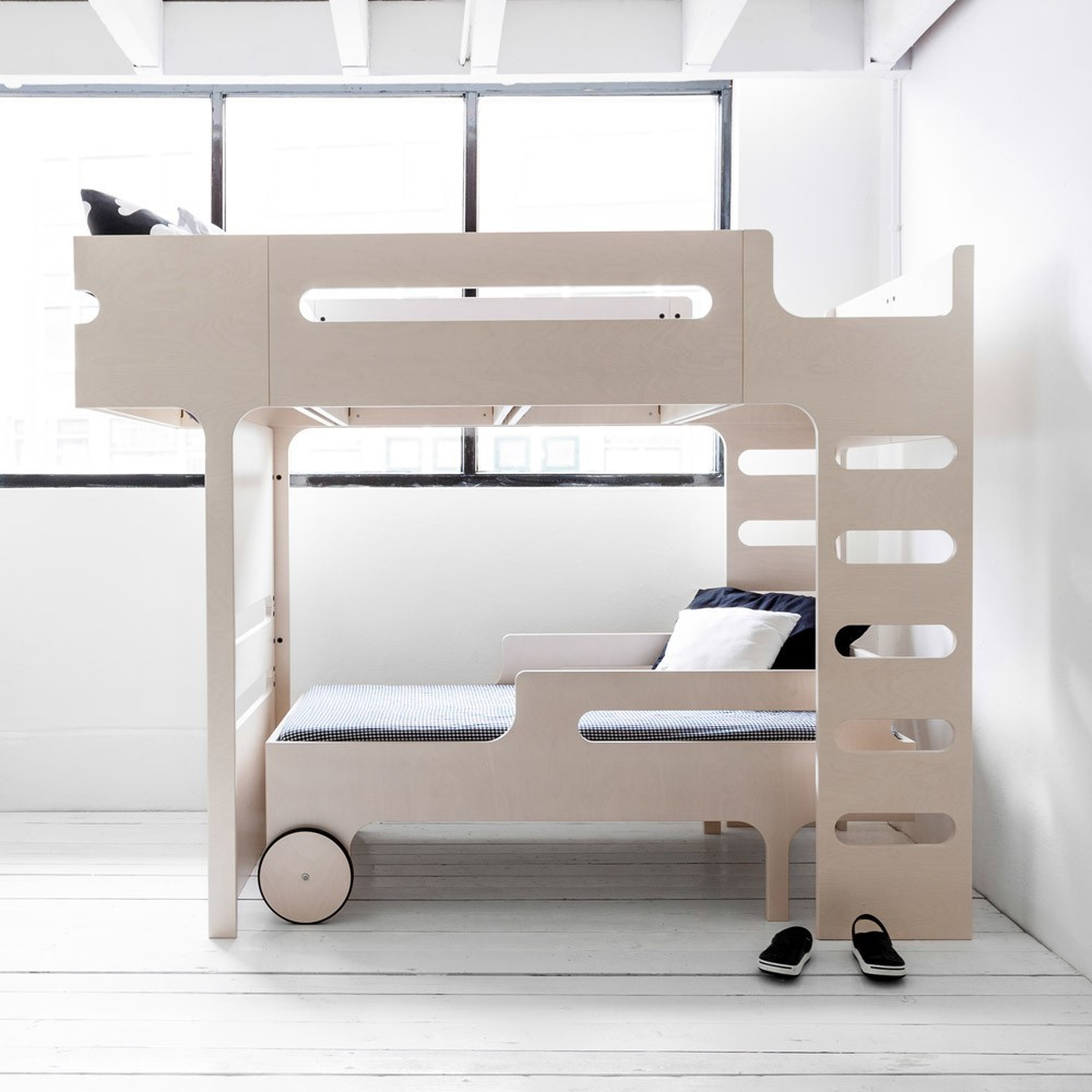 lit mezzanine double chelle funk bed beige c rus rafa kids. Black Bedroom Furniture Sets. Home Design Ideas