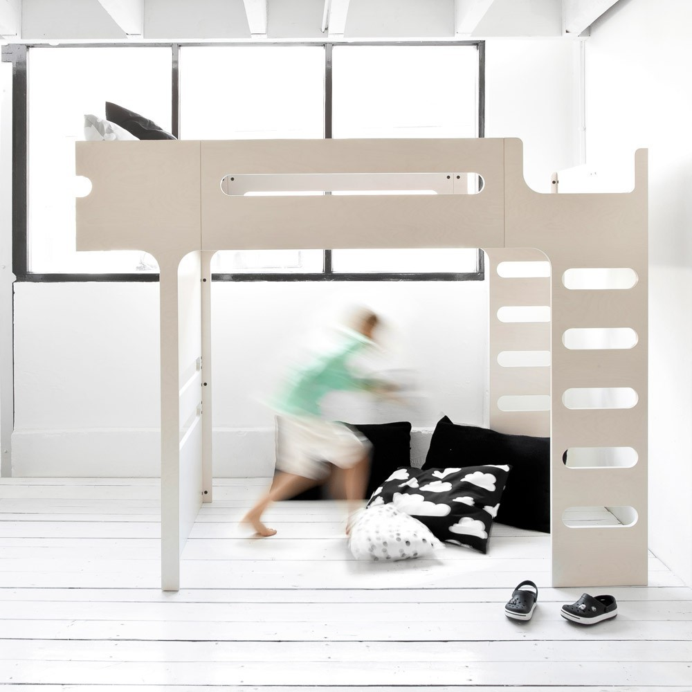 lit mezzanine double chelle funk bed beige c rus rafa kids. Black Bedroom Furniture Sets. Home Design Ideas