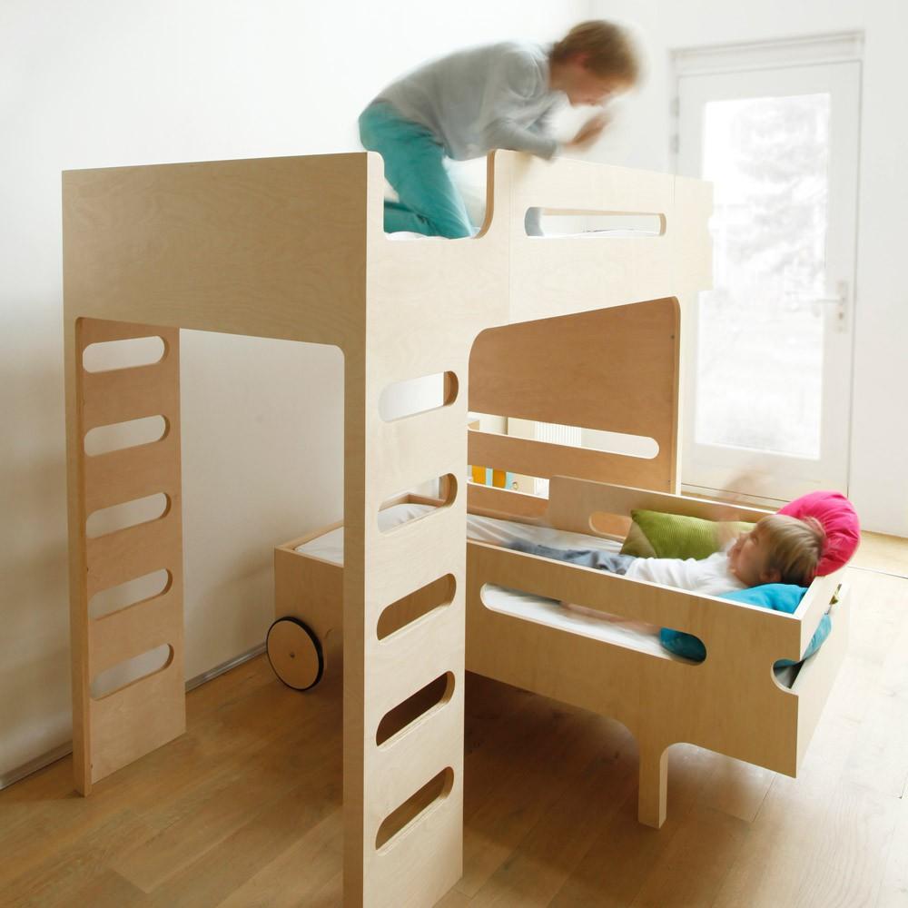 lit mezzanine double chelle funk bed naturel rafa kids design. Black Bedroom Furniture Sets. Home Design Ideas