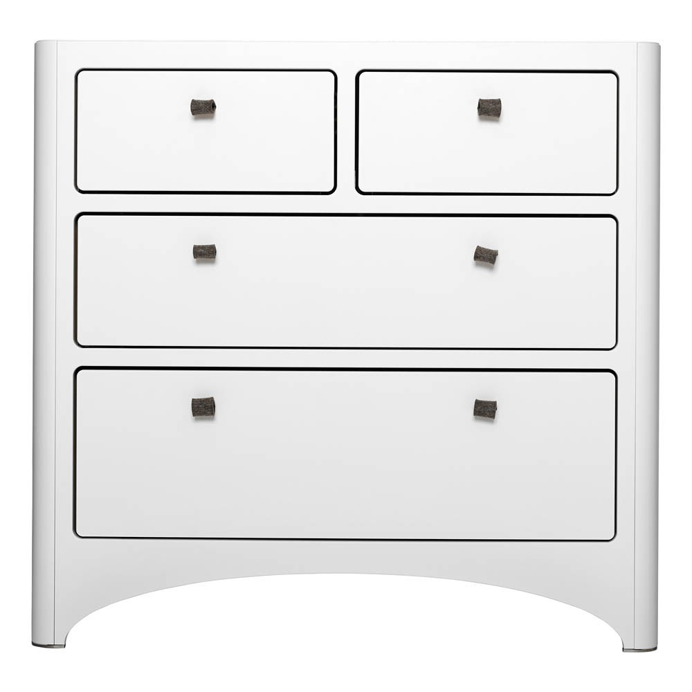 Commode 4 tiroirs blanc leander design b b enfant - Commode 4 tiroirs blanc ...