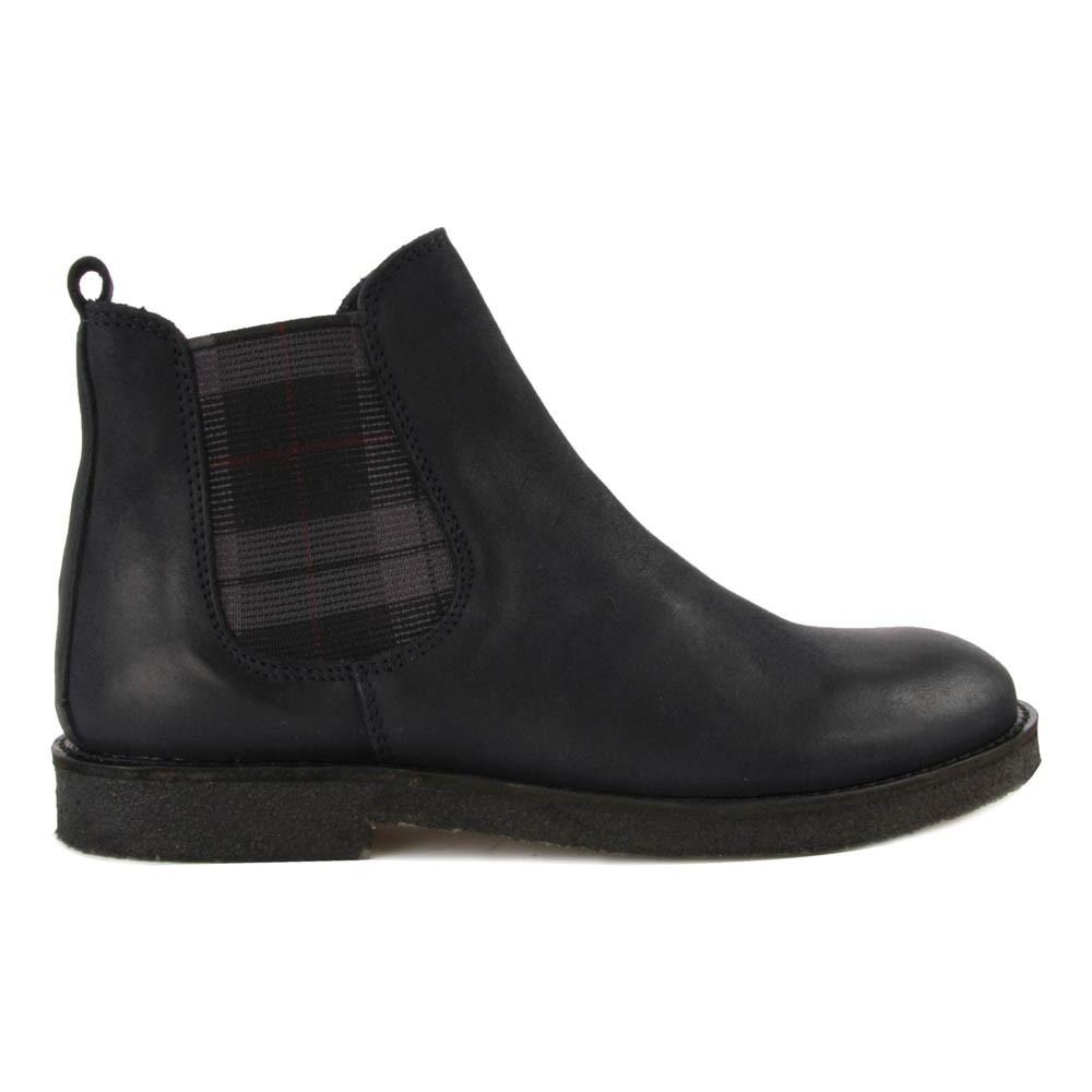 chelsea boots mit gummi tartan navy gallucci schuh kind. Black Bedroom Furniture Sets. Home Design Ideas