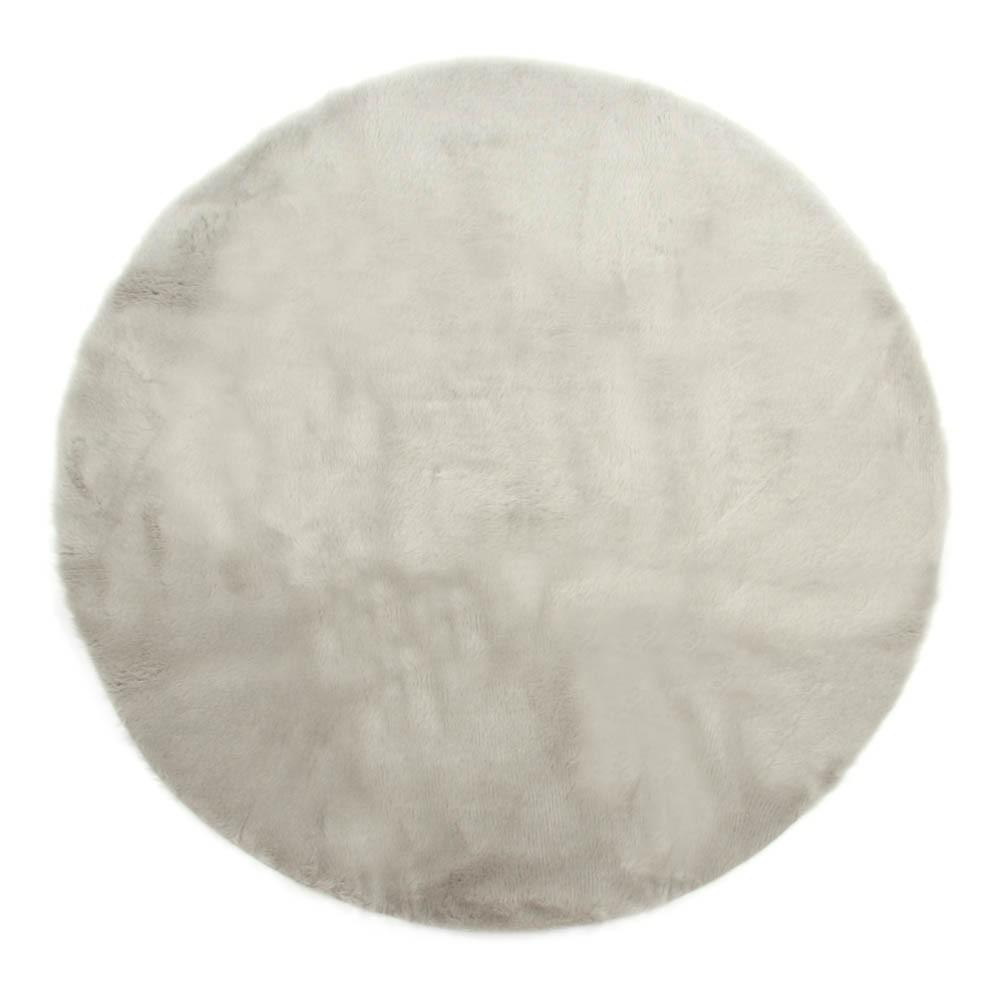 Tappeto rotondo grigio chiaro grigio chiaro pilepoil design - Tappeto grigio chiaro ...