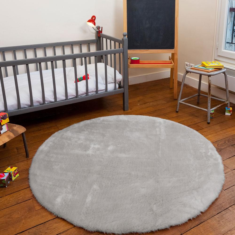runder teppich hellgrau hellgrau pilepoil design kind. Black Bedroom Furniture Sets. Home Design Ideas