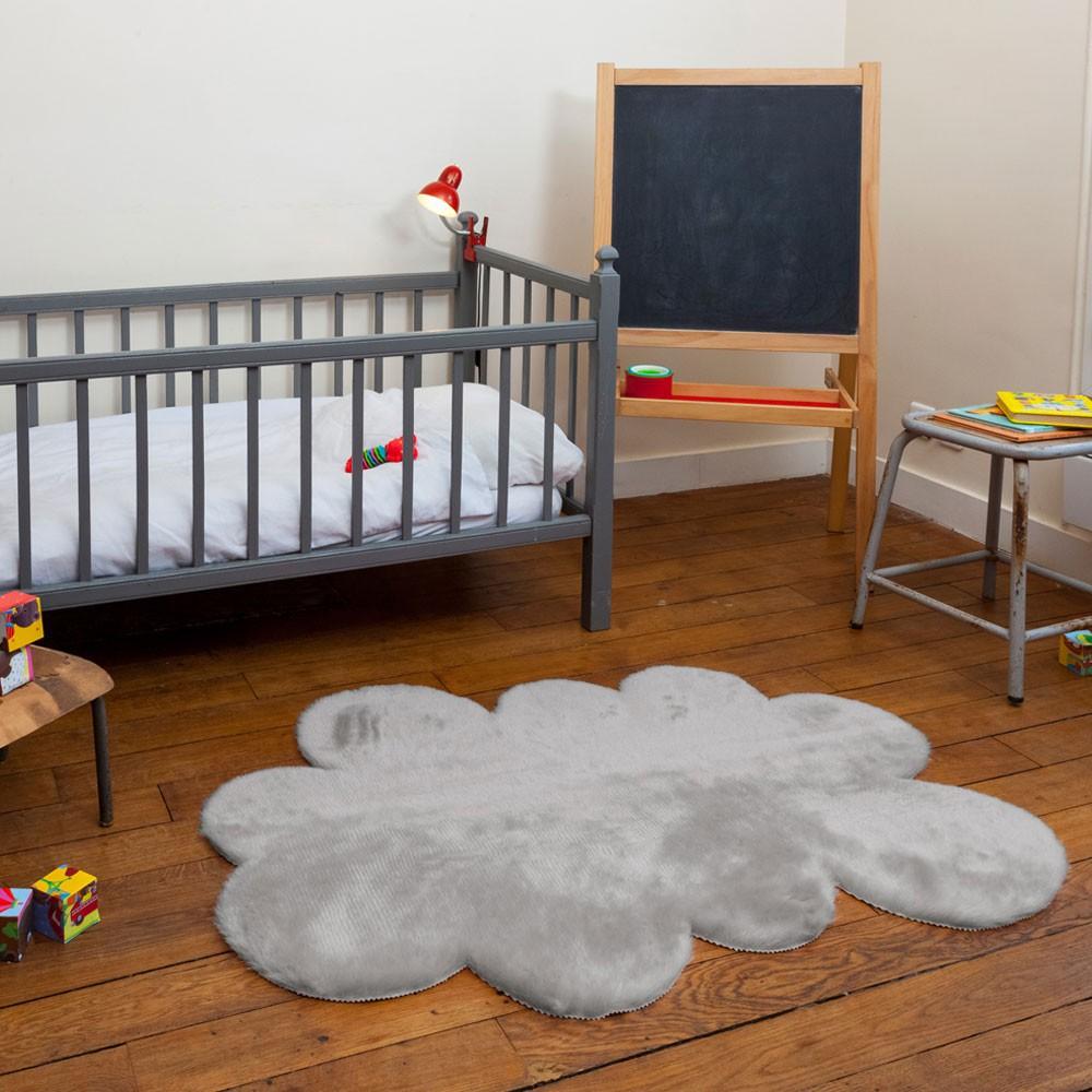 Teppich Wolke  hellgrau Hellgrau Pilepoil Design Baby , Kind