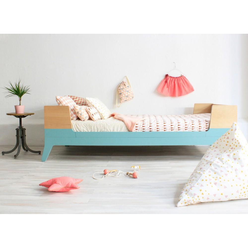 lit 1 personne 90x200 cm vert d 39 eau nobodinoz design enfant. Black Bedroom Furniture Sets. Home Design Ideas