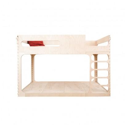 Letto alto con scaletta e scivolo 90x200 cm bianco hoppekids - Scaletta letto a castello ...