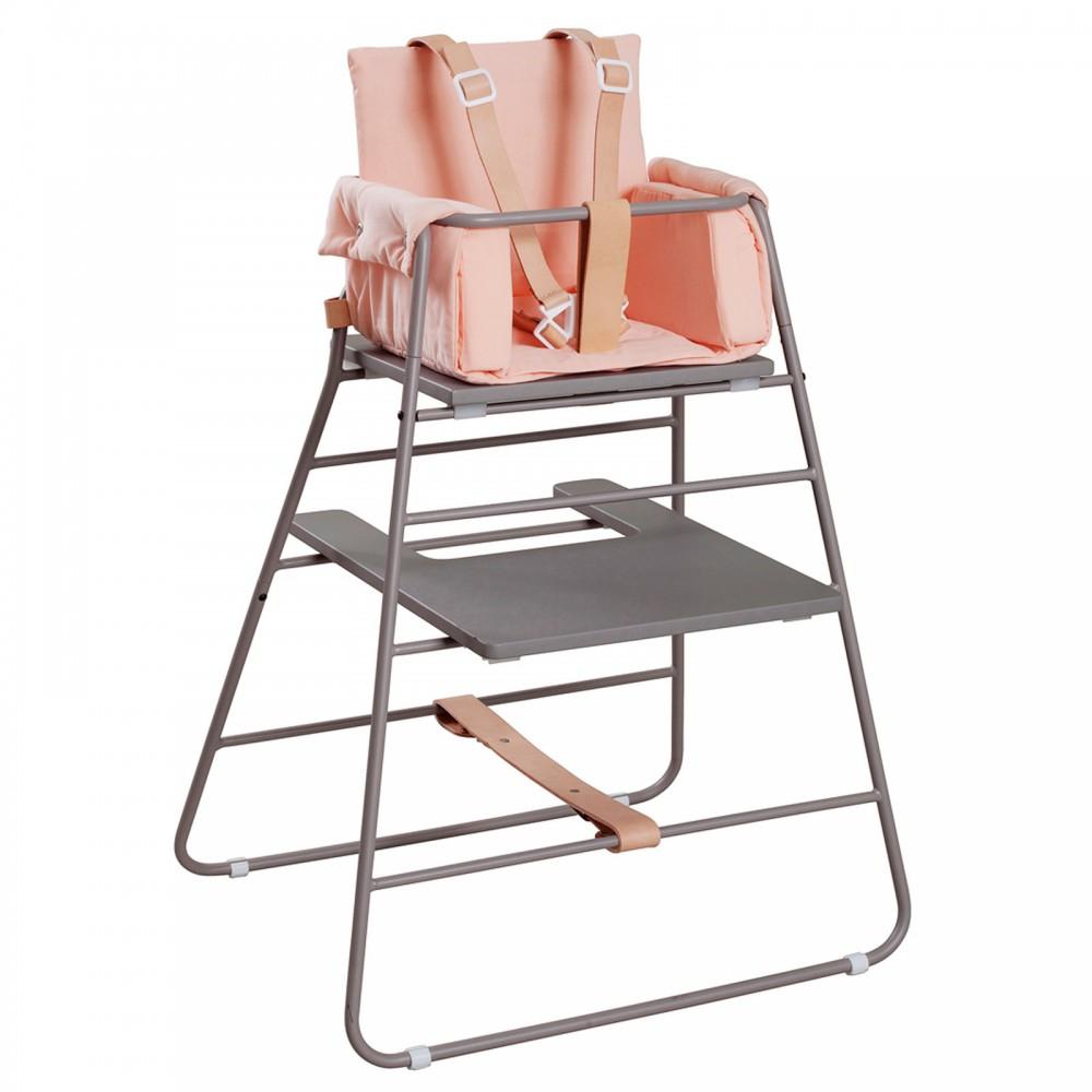 Coussin r ducteur towerblock pour chaise haute rose p che - Coussin reducteur chaise haute ...