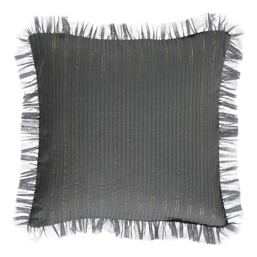 housse de coussin ray e or th a 30x30 cm gris anthracite louis. Black Bedroom Furniture Sets. Home Design Ideas