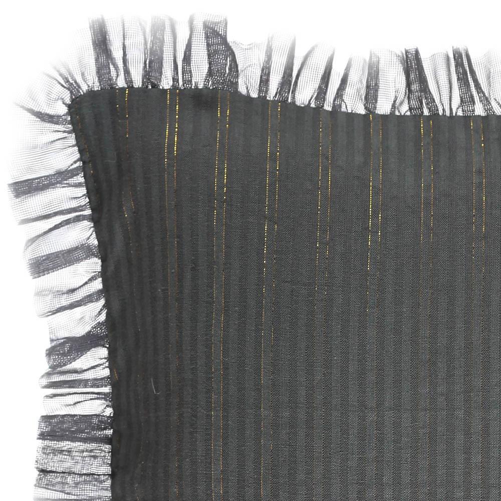 Housse de coussin ray e or th a 30x30 cm gris anthracite louis for Housse de coussin 30 x 30