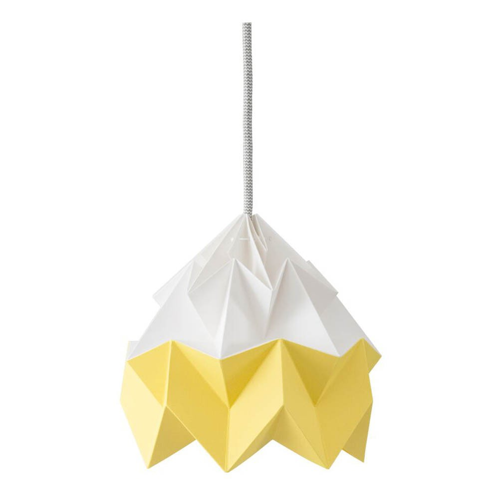 suspension origami moth bicolore jaune studio snowpuppe design. Black Bedroom Furniture Sets. Home Design Ideas