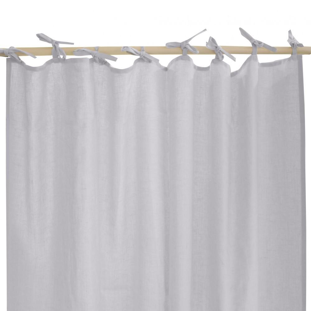 rideau en lin lav avec nouettes gris lab design enfant. Black Bedroom Furniture Sets. Home Design Ideas