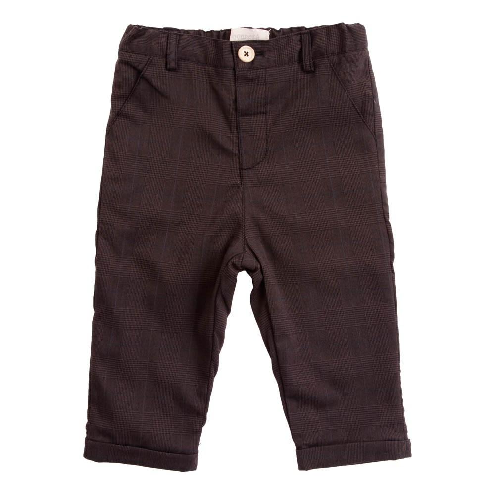 Pantalon carreaux gris fonc bonnet pompon mode b b for Pantalon carreaux