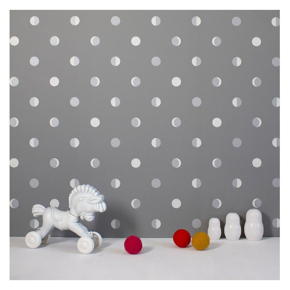 papier peint croissants de lune gris mistigri bartsch design. Black Bedroom Furniture Sets. Home Design Ideas