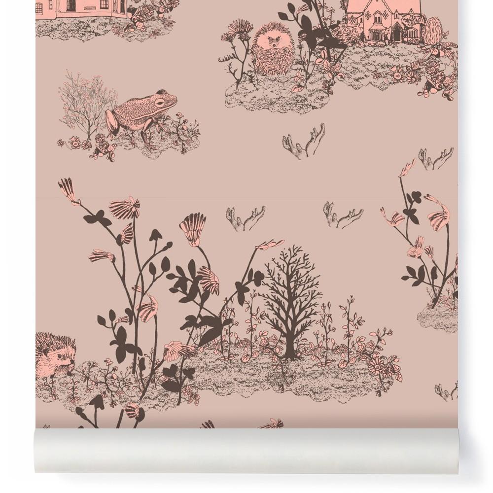 papier peint woodland rose poudre sian zeng design enfant. Black Bedroom Furniture Sets. Home Design Ideas