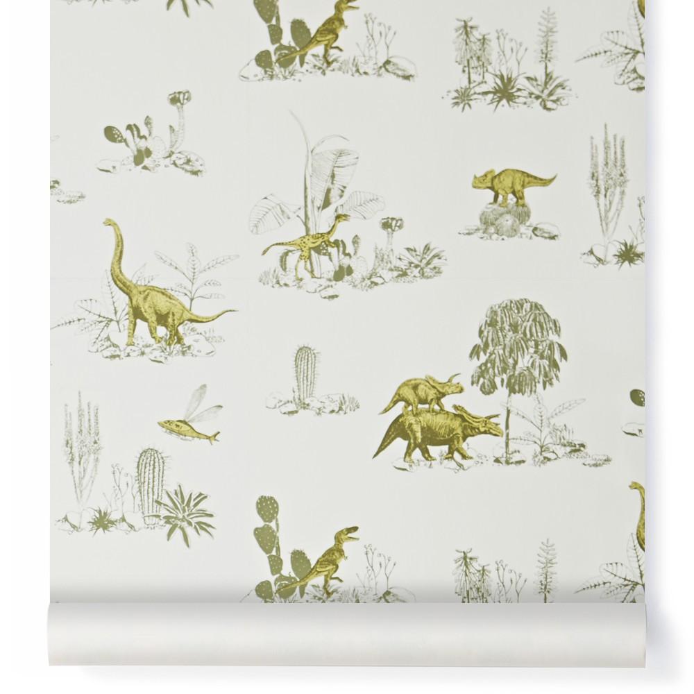 papier peint dino jaune sian zeng design enfant. Black Bedroom Furniture Sets. Home Design Ideas