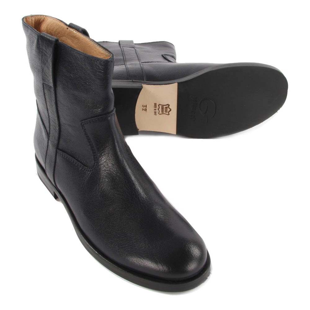 buffalo leather ankle boots navy blue gallucci shoes teen. Black Bedroom Furniture Sets. Home Design Ideas