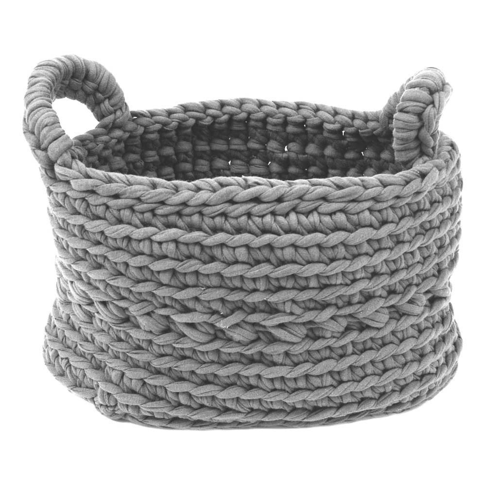 panier crochet gris clair naco design enfant. Black Bedroom Furniture Sets. Home Design Ideas