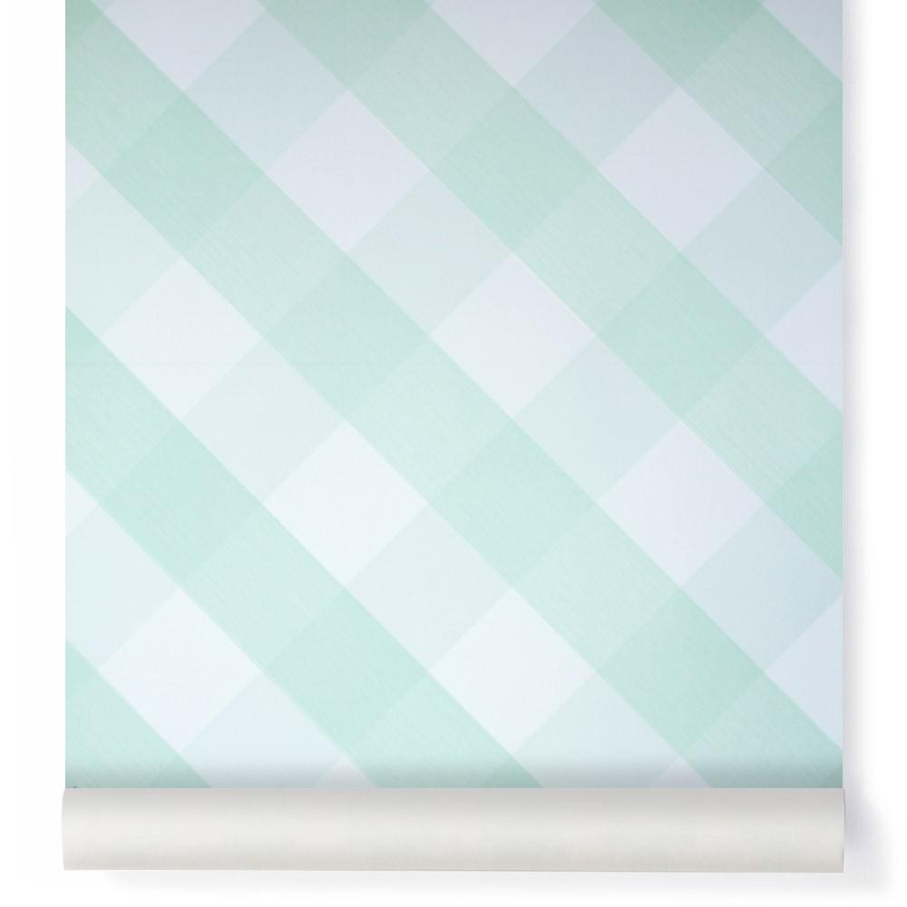 Papier peint Ravissant Vichy Vert amande Bartsch Design Enfant