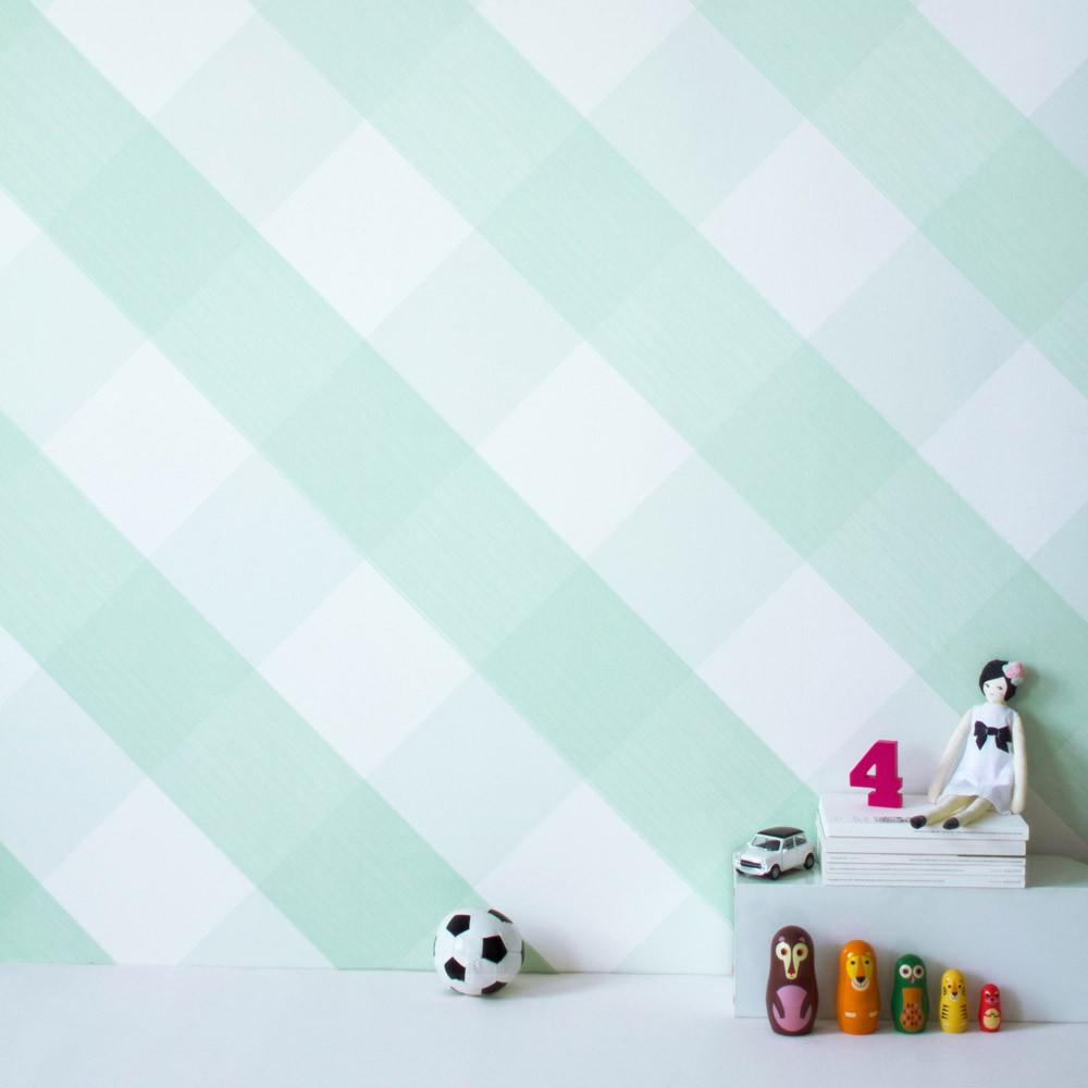 papier peint ravissant vichy vert amande bartsch design enfant. Black Bedroom Furniture Sets. Home Design Ideas