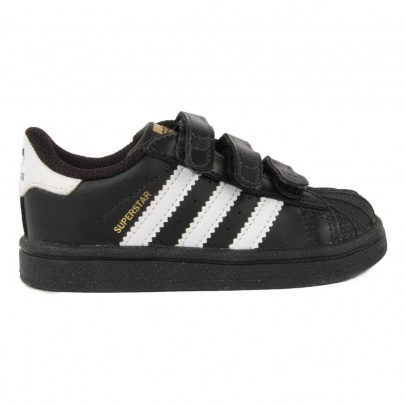Adidas Superstar Black Velcro