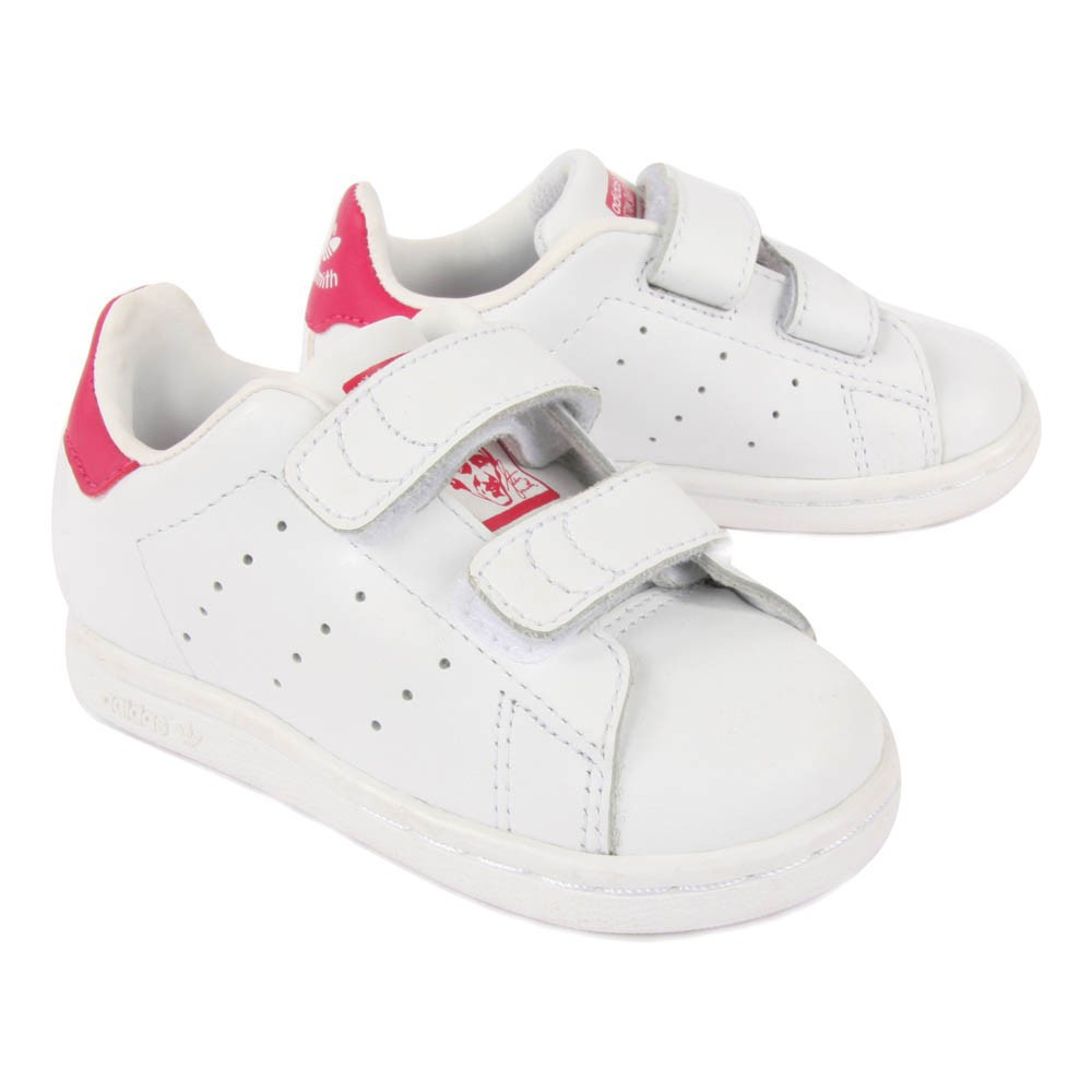 stan smith pink velcro trainers pink adidas shoes baby. Black Bedroom Furniture Sets. Home Design Ideas