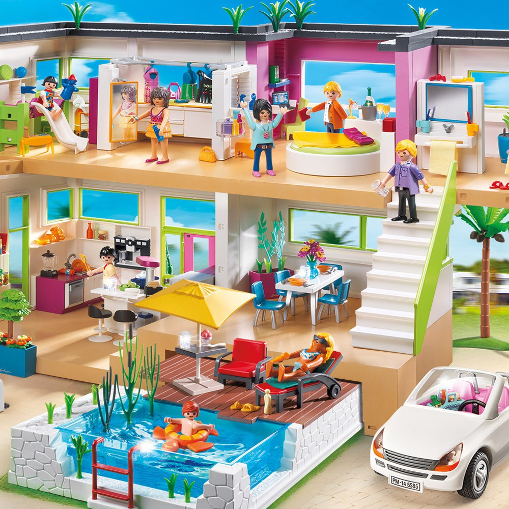 5574 maison moderne de playmobil for Salle a manger playmobil city life