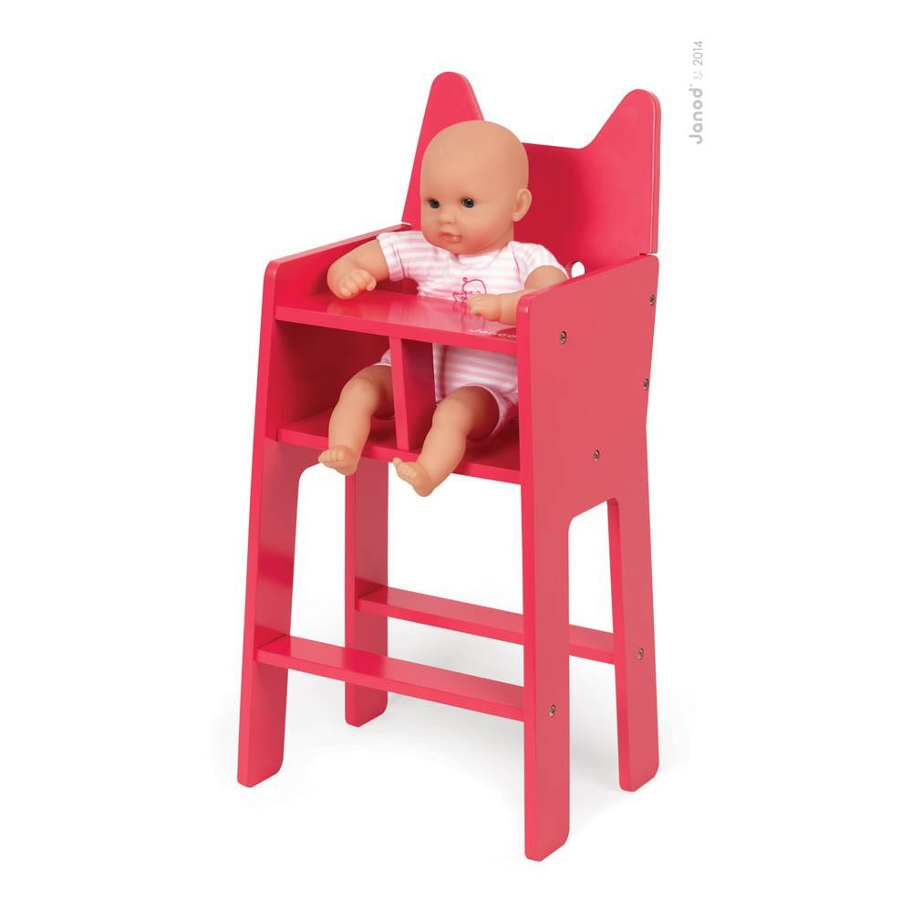 chaise haute pour poup e babycat rouge janod jouet et loisir. Black Bedroom Furniture Sets. Home Design Ideas
