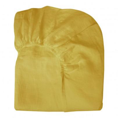 Coussin liberty bosphorus 65x65 cm jaune lab design enfant for Drap housse lin