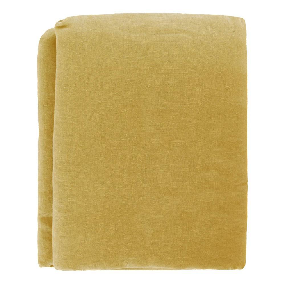 Drap plat lin jaune moutarde lab design enfant - Drap plat enfant ...