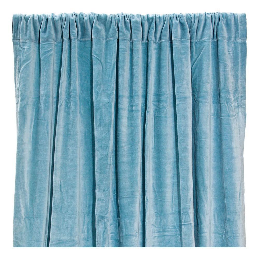 rideau occultant en velours de coton bleu gris liv interior. Black Bedroom Furniture Sets. Home Design Ideas