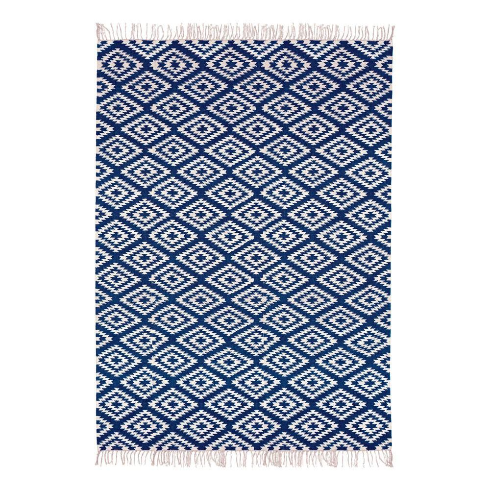 Alfombra de algod n apache azul marino liv interior design for Alfombras de algodon indias