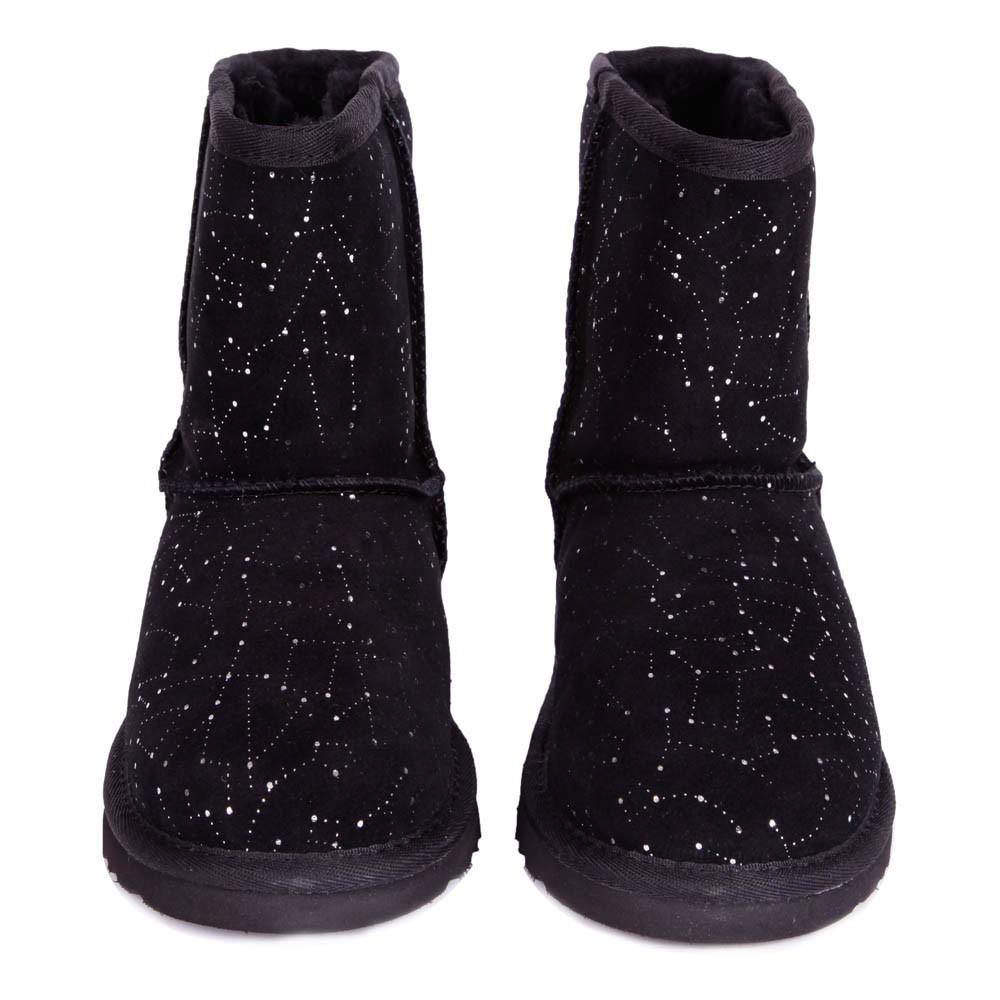 bottes fourr es constellation noir ugg chaussure enfant. Black Bedroom Furniture Sets. Home Design Ideas