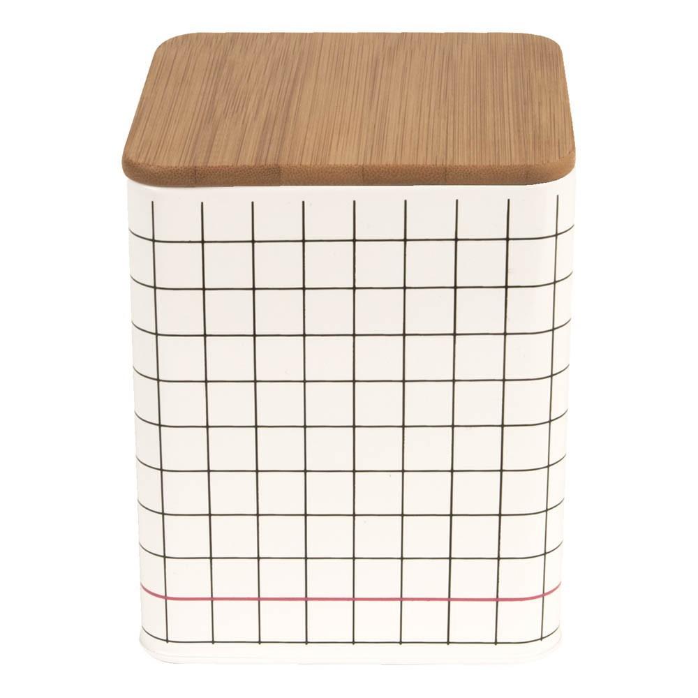 bo te de rangement carr grid noir present time design. Black Bedroom Furniture Sets. Home Design Ideas