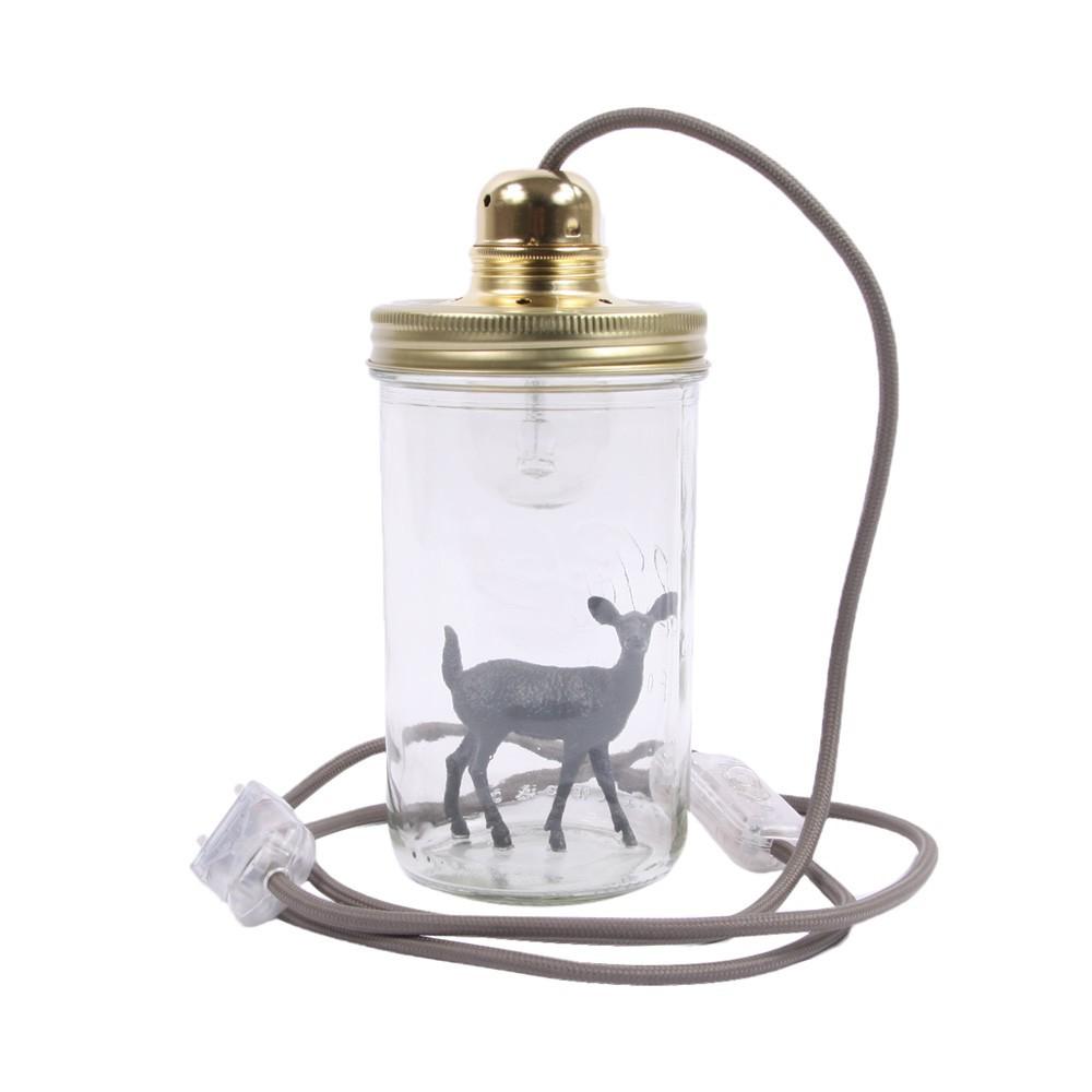lampe bocal poser bambi gris fonc la t te dans le bocal. Black Bedroom Furniture Sets. Home Design Ideas