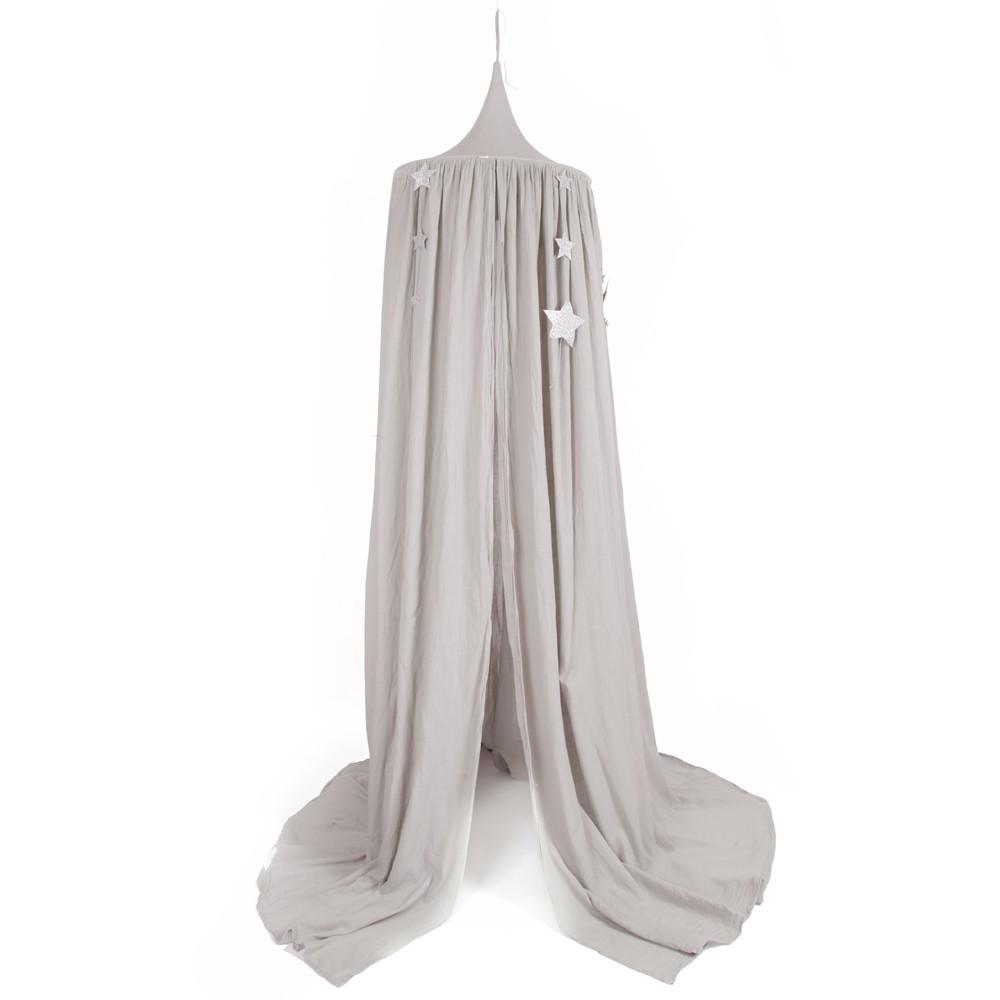 betthimmel sternepailletten nummer 74 x smallable silver grey. Black Bedroom Furniture Sets. Home Design Ideas
