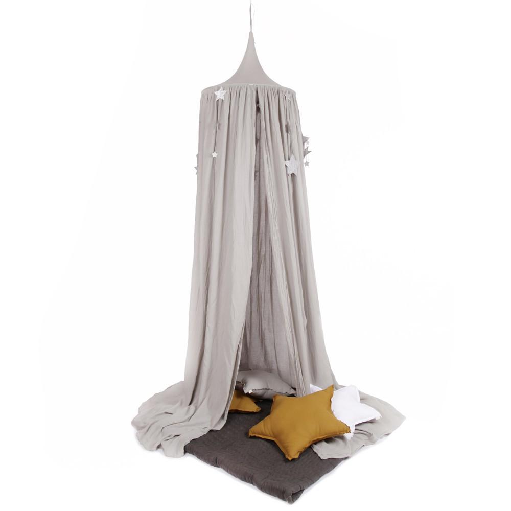 ciel de lit toiles pailletes num ro 74 x smallable gris. Black Bedroom Furniture Sets. Home Design Ideas
