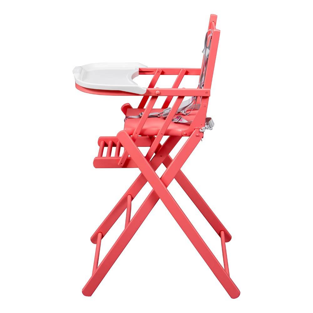 chaise haute extra pliante laqu bouton de rose combelle. Black Bedroom Furniture Sets. Home Design Ideas