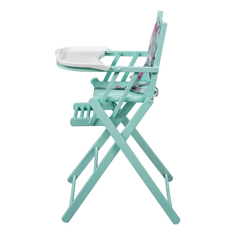 chaise haute extra pliante laqu vert amande combelle design. Black Bedroom Furniture Sets. Home Design Ideas