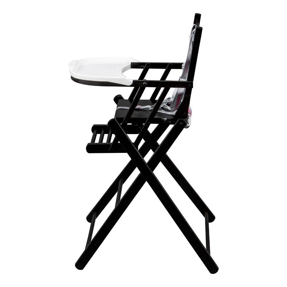 Chaise haute extra pliante laqu noir combelle design b b - Chaise haute bebe design ...