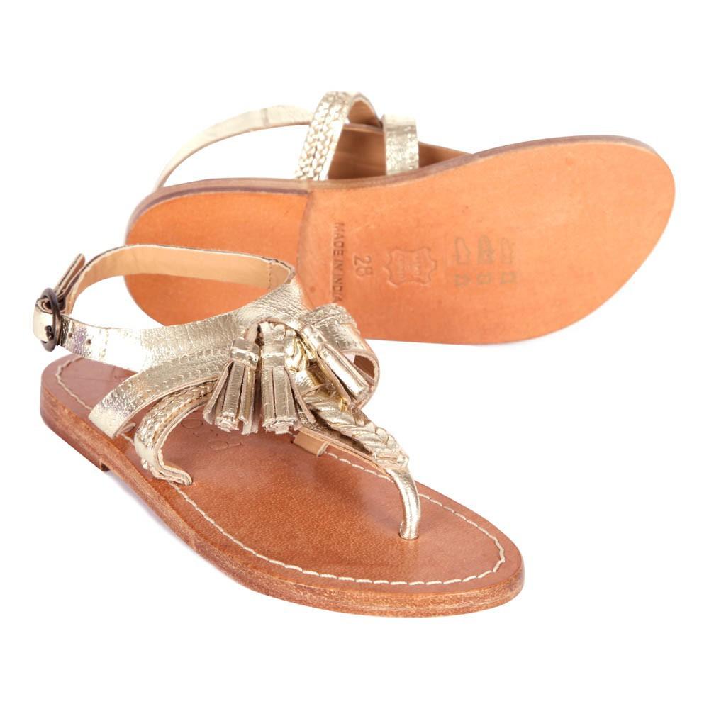 sandales pompons dor hartford chaussure adolescent enfant. Black Bedroom Furniture Sets. Home Design Ideas