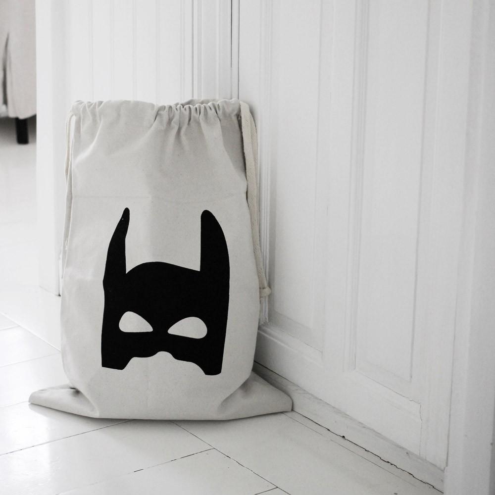 sac rangement en tissu super h ros tellkiddo design enfant. Black Bedroom Furniture Sets. Home Design Ideas