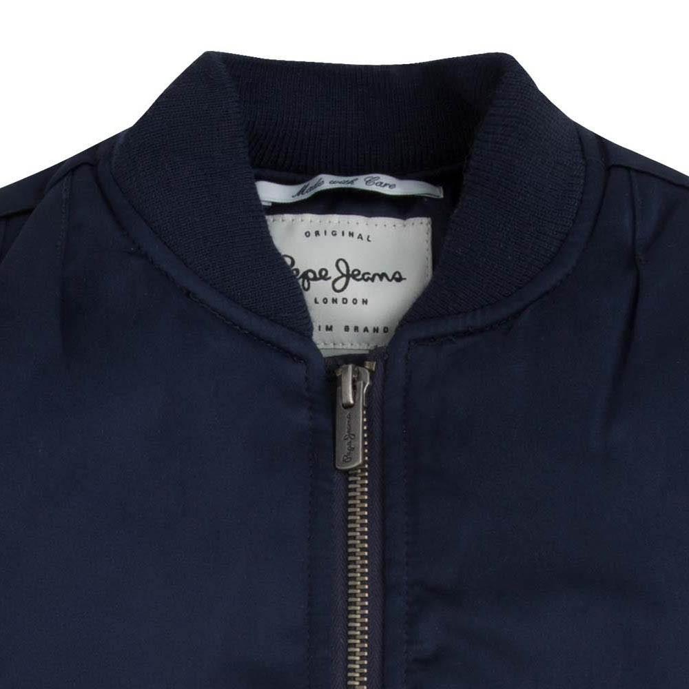 bomber dos imprim jane bleu nuit pepe jeans mode adolescent. Black Bedroom Furniture Sets. Home Design Ideas