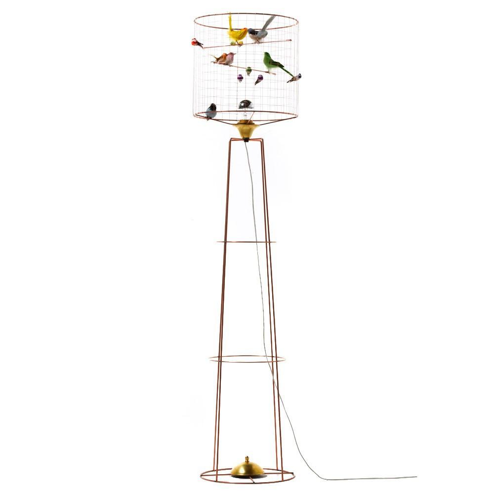 stehlampe vogelhaus bunt mathieu challi res design erwachsene. Black Bedroom Furniture Sets. Home Design Ideas