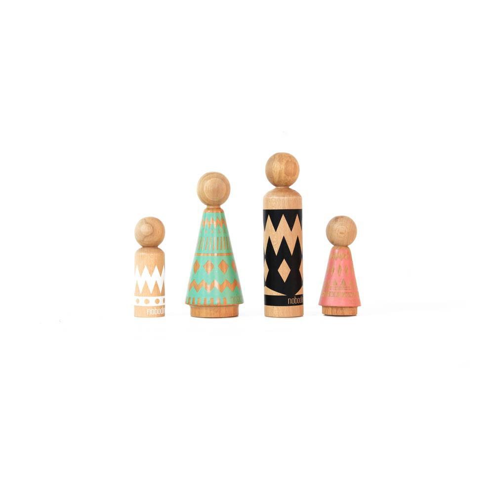 Personnages en bois Multicolore Nobodinoz Jouet et Loisir ~ Personnage En Bois