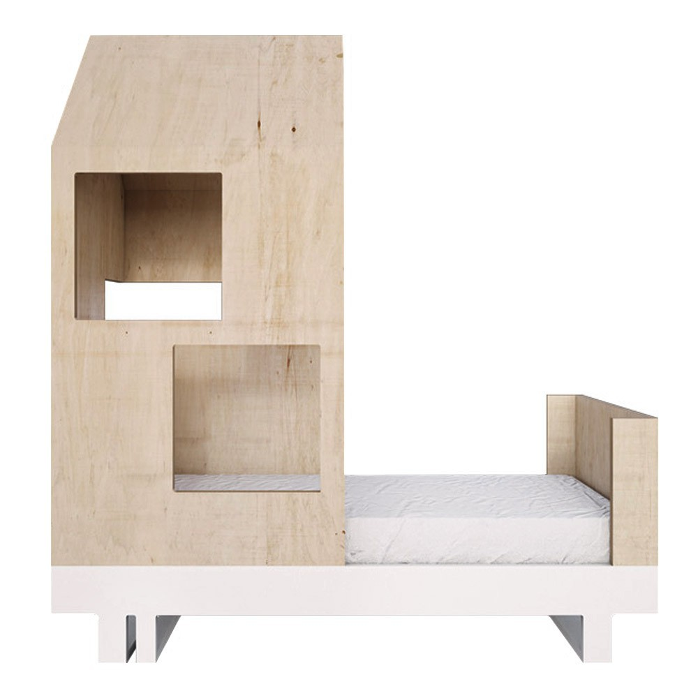 lit junior cabane 80x160 cm naturel kutikai design enfant. Black Bedroom Furniture Sets. Home Design Ideas