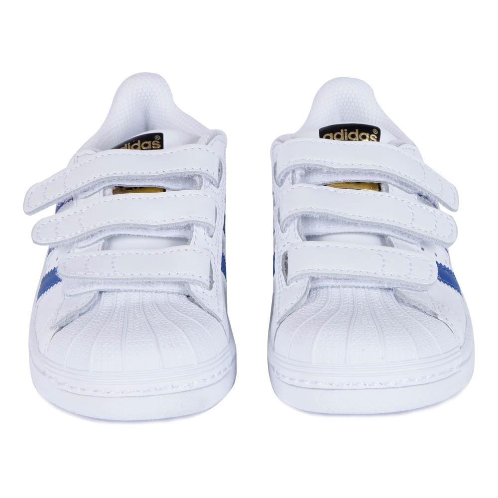 baskets cuir scratchs superstar bleu blanc adidas chaussure. Black Bedroom Furniture Sets. Home Design Ideas